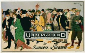 Vintage London underground poster - Underground, for business or pleasure